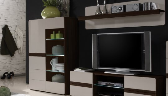 European Style Wall Units Entertainment Centers